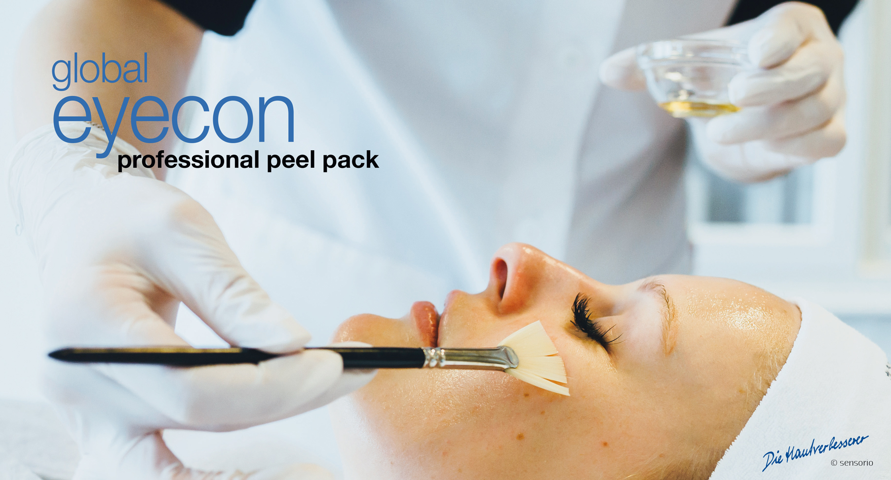global eyecon Augenpeeling Behandlung